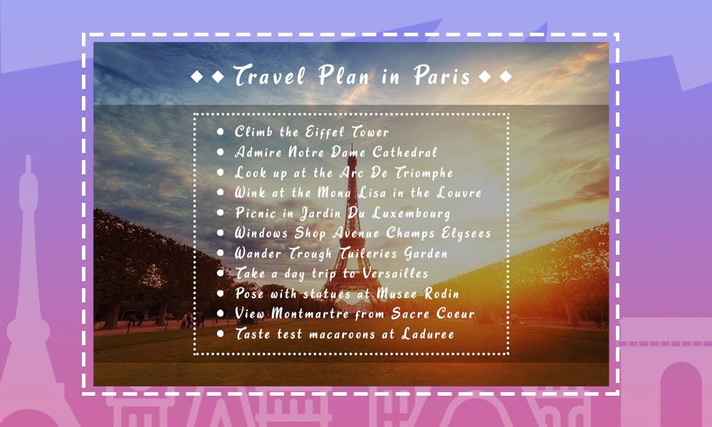 Paris Travel Itinerary